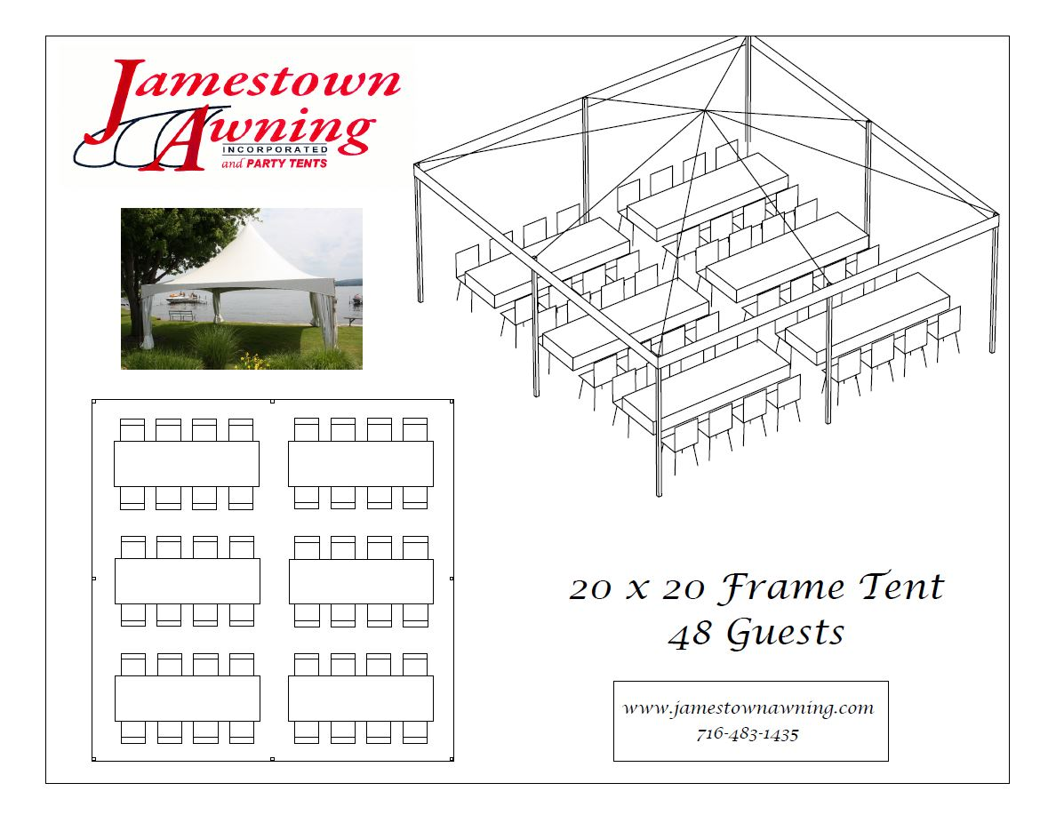 20 x 20 Frame Tent - Jamestown Awning and Party Tents