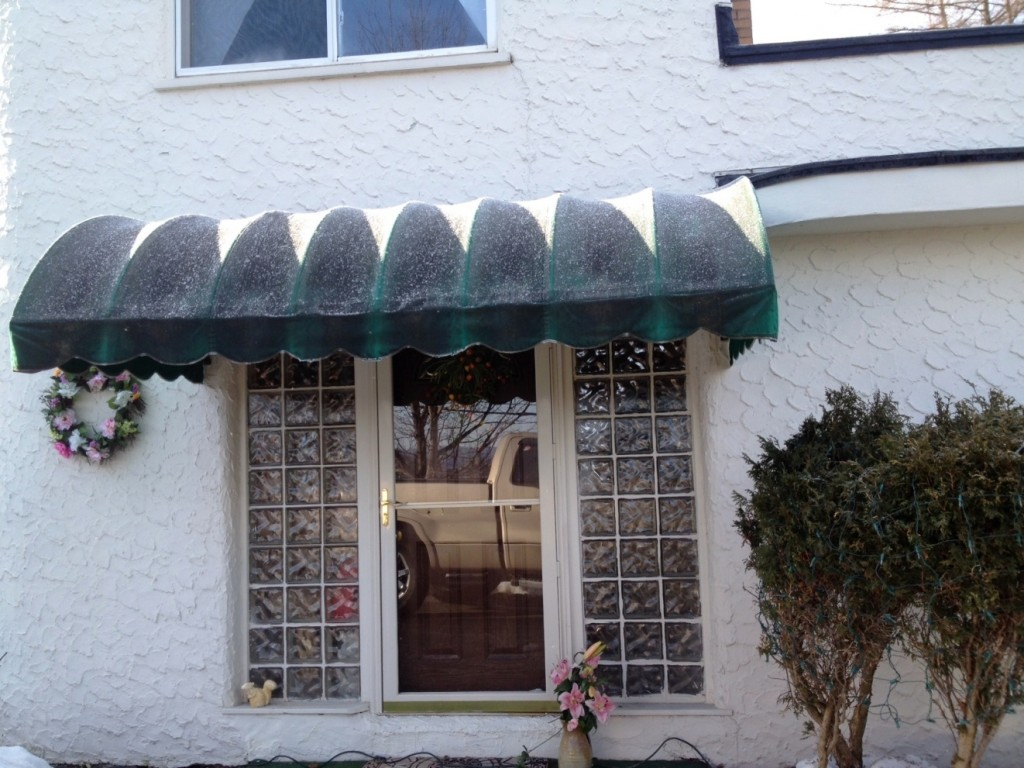 Before Dirty Porch Awning