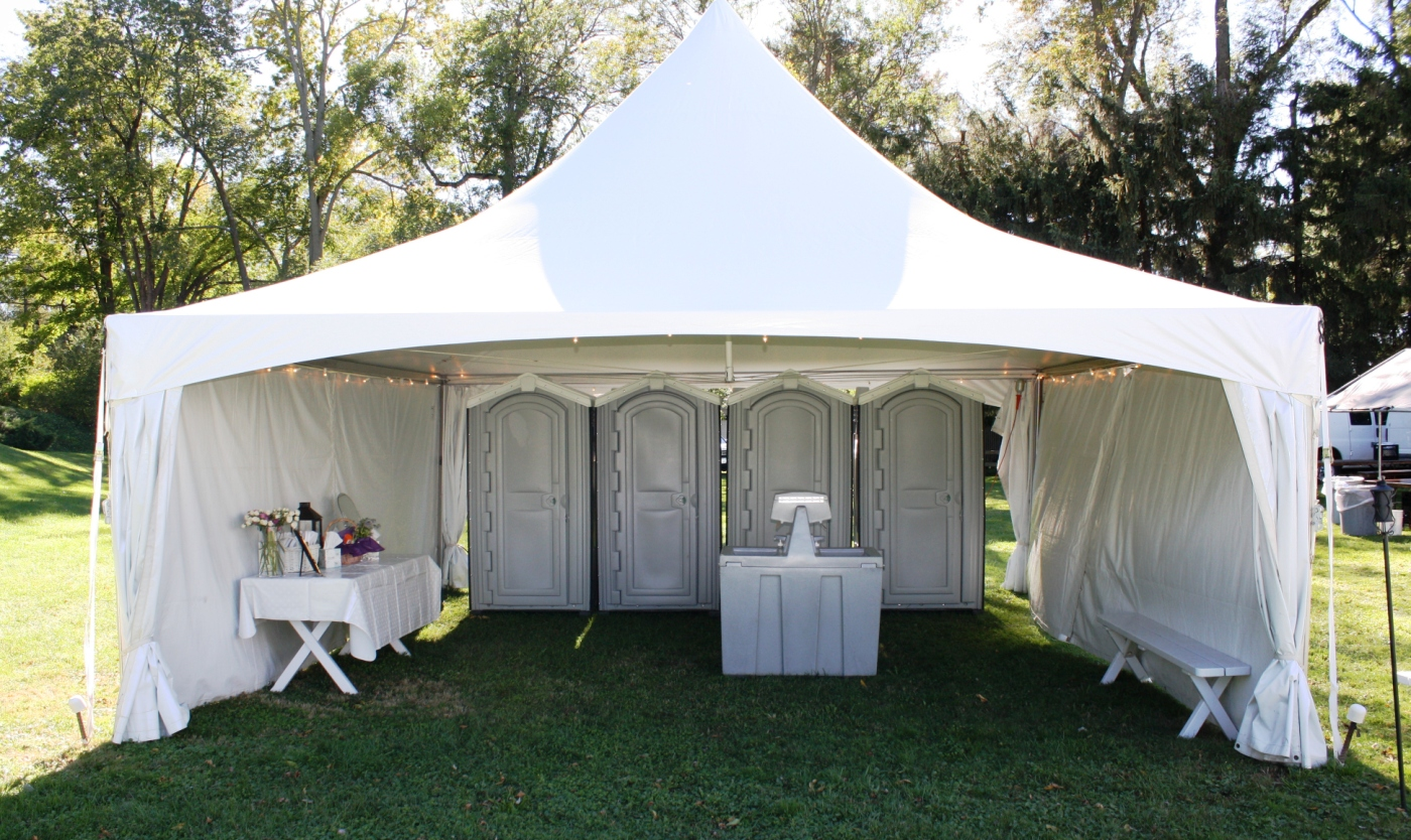 Wedding Rental Bathroom Jamestown Awning And Party Tents